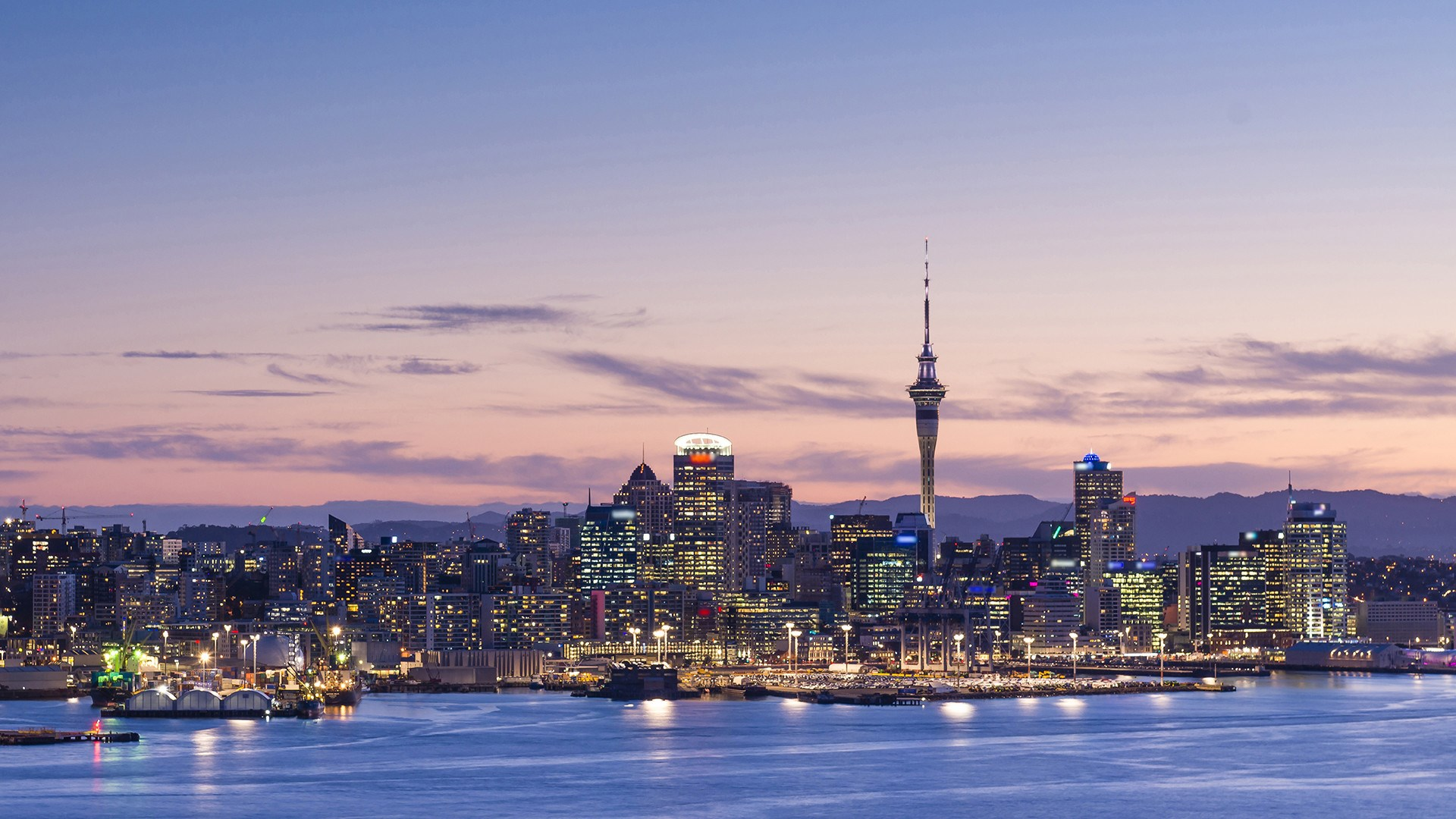 View of Auckland city from Waitemata Harbour