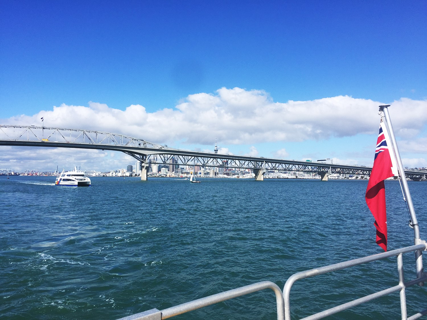 Fullers Harbour Cruise takes in the Auckland Harbour Bridge