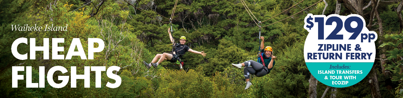 Zipline in auckland and waiheke island