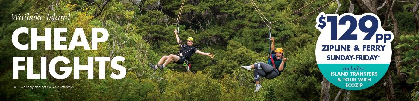 things to do in waiheke island - ecozip deal - fullers360